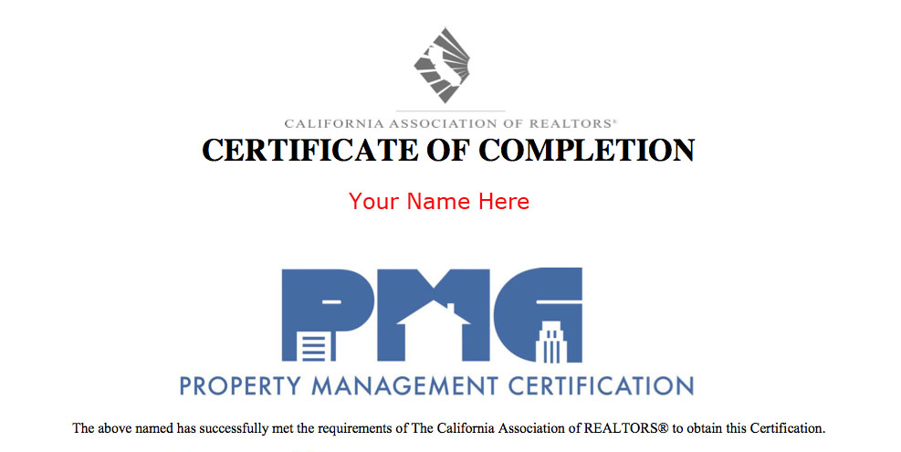 The Property Management Certification Pmc Program